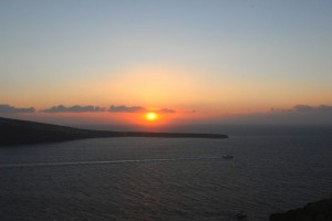 Sunset from village of Oia