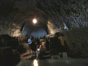 Hatzidakis winery underground